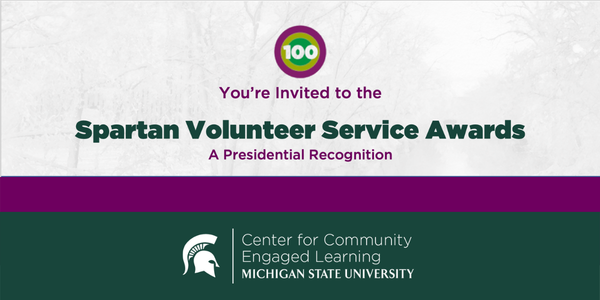 You're invited to the Spartan Volunteer Service Awards virtual ceremony